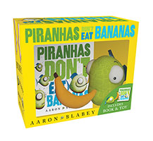 Buy Piranhas Dont Eat Bananas Mini Book   Plush from Top Tales